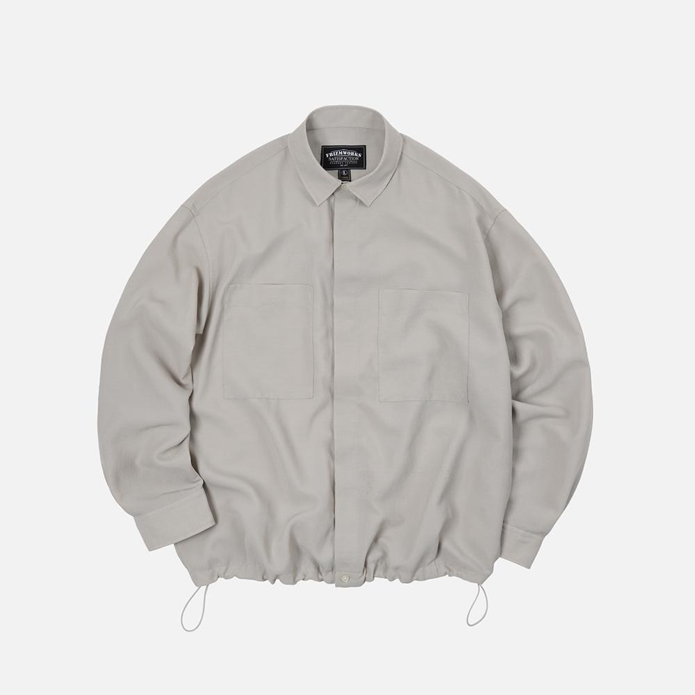 String oversized shirt _ light beige