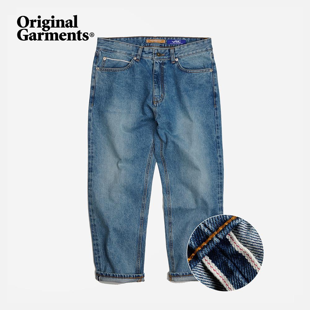 OG Selvedge ankle denim pants _ light blue