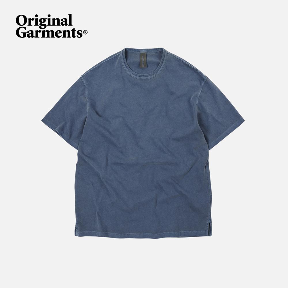 OG Pigment dyeing half tee _ blue