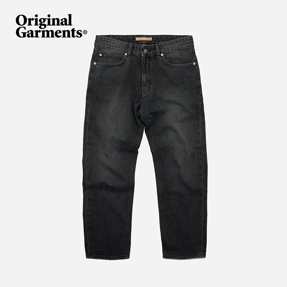 OG Tapered ankle denim pants _ washed black