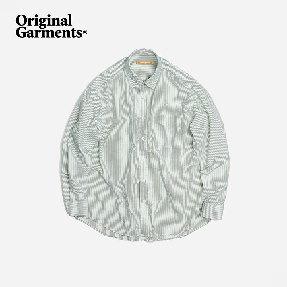 OG Stripe seersucker shirt _ green