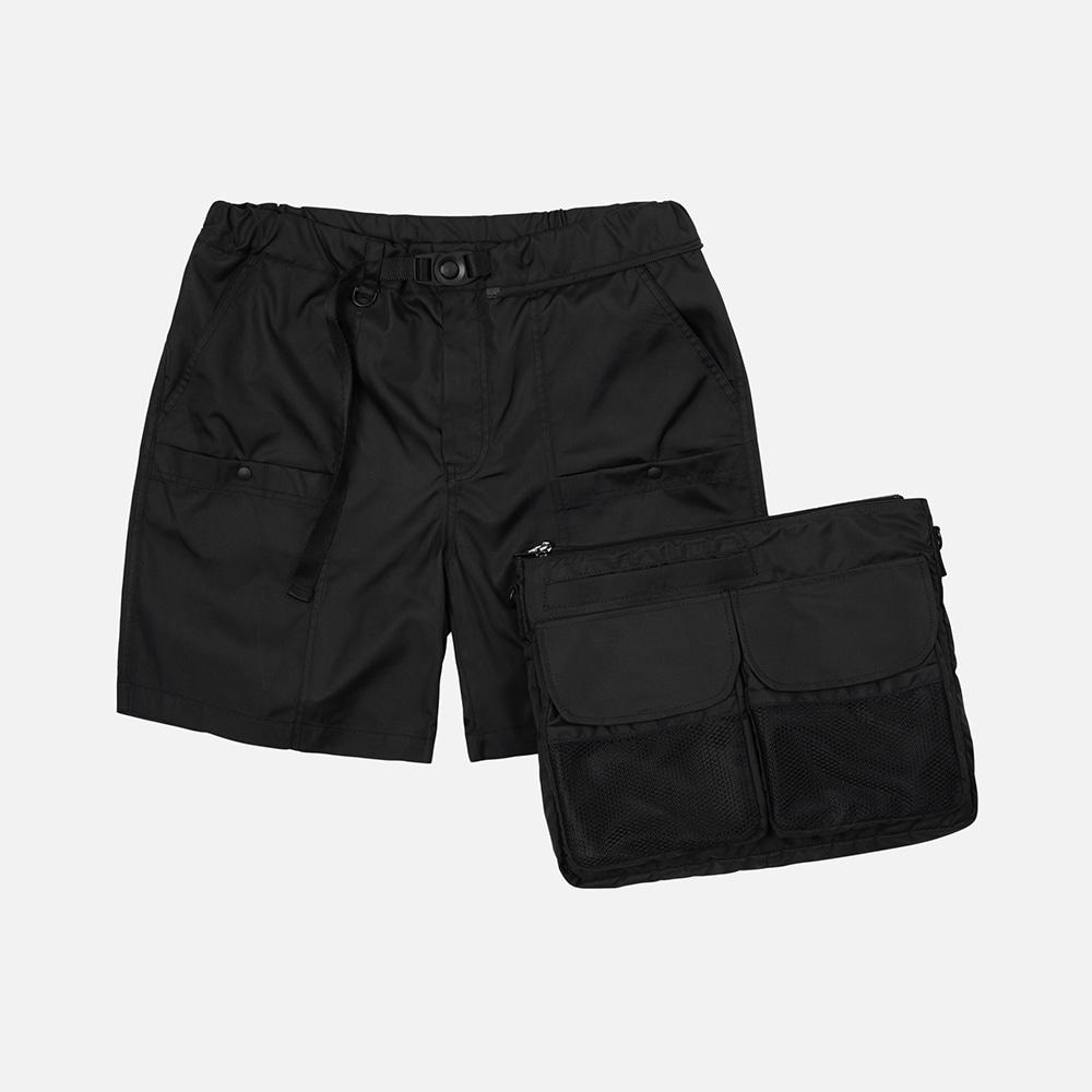 Detachable bag shorts _ black