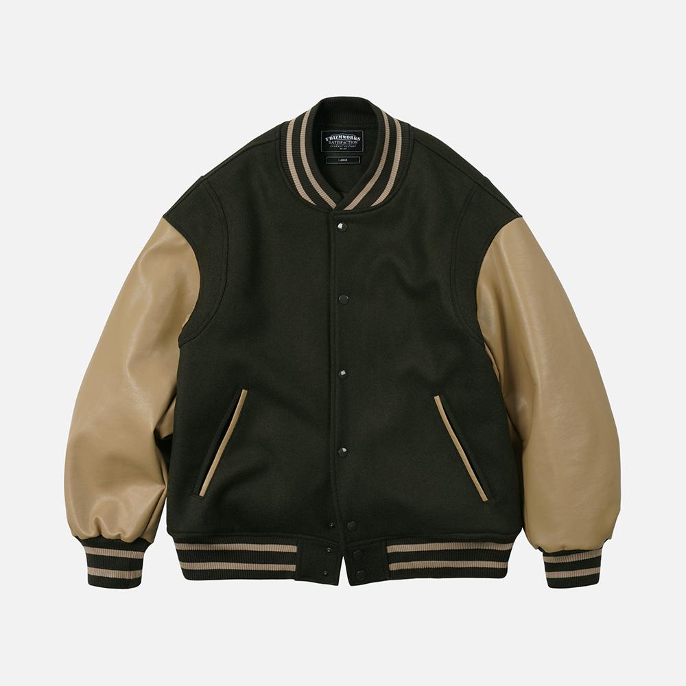 Wool stadium jacket _ dark green