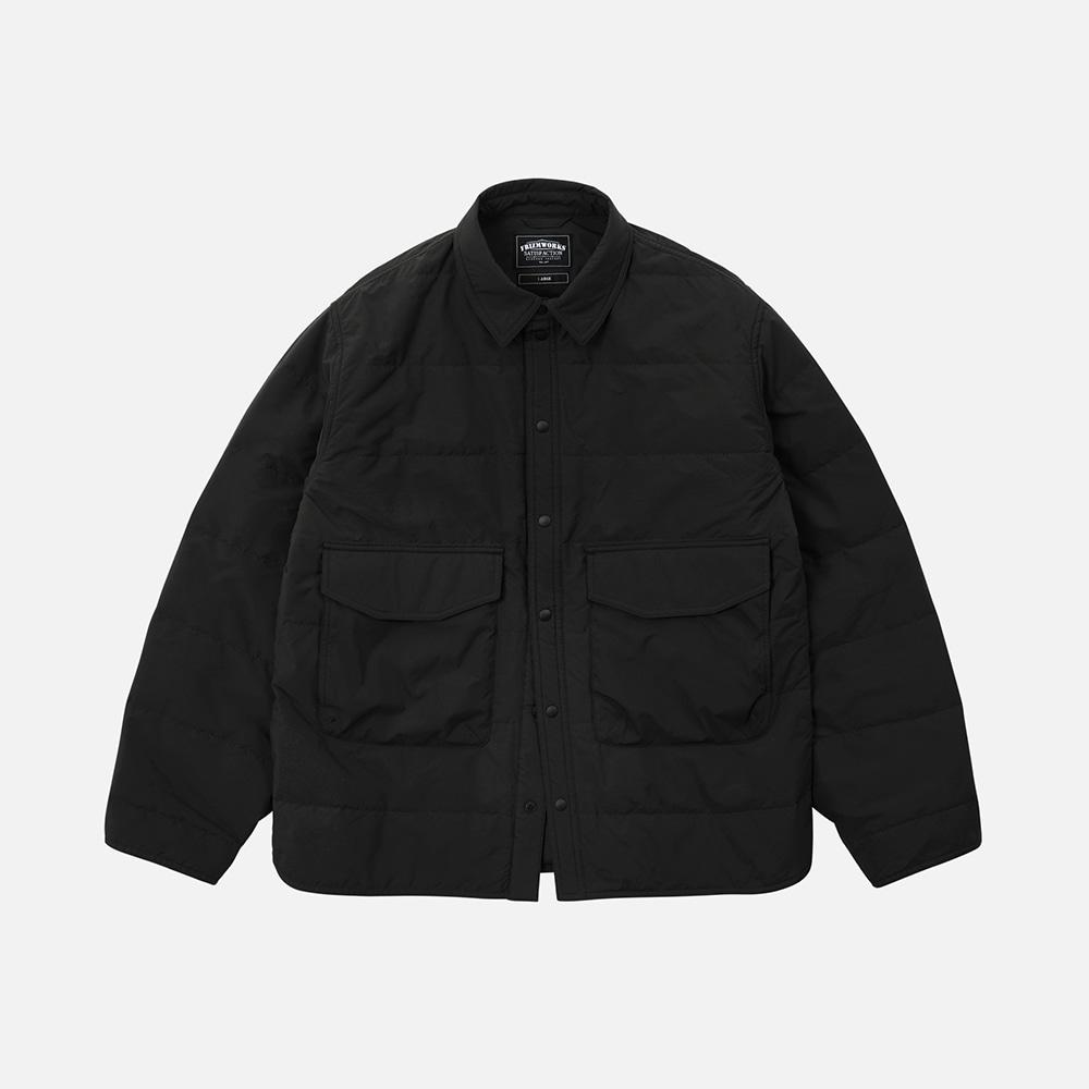 Poplin padded shirt _ black