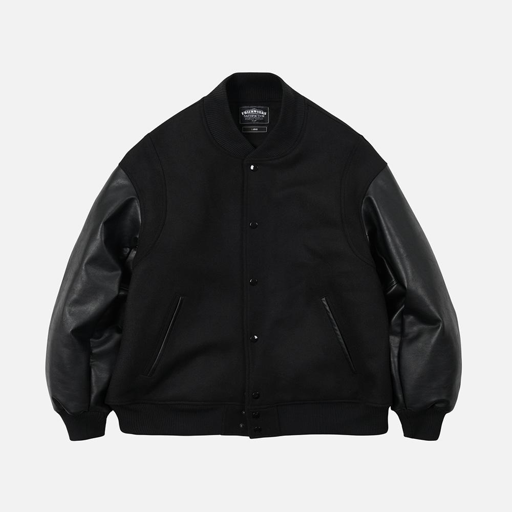 Wool stadium jacket _ black
