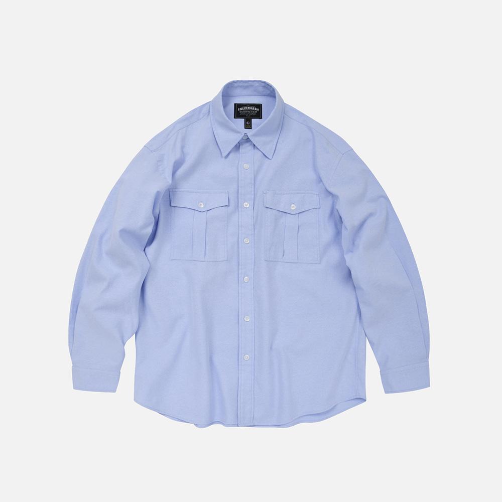 Oxford d.p shirt _ blue