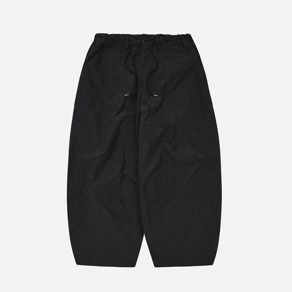 Nylon balloon pants _ black