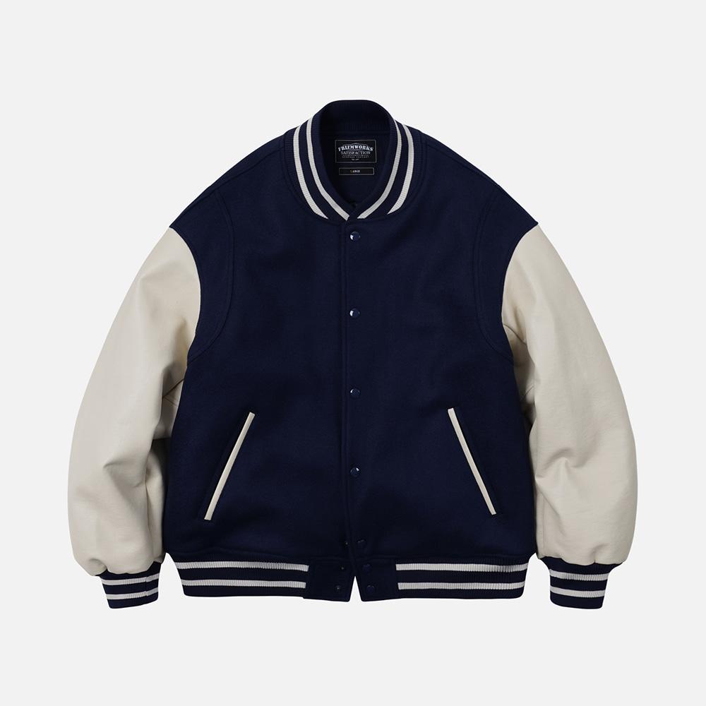 Wool stadium jacket _ navy