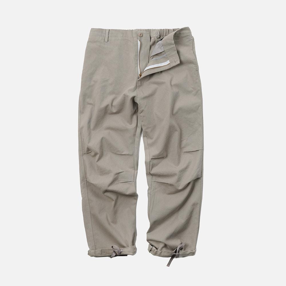 Twill cotton easy pants _ light gray