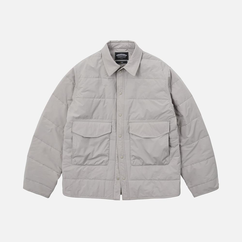 Poplin padded shirt _ light beige