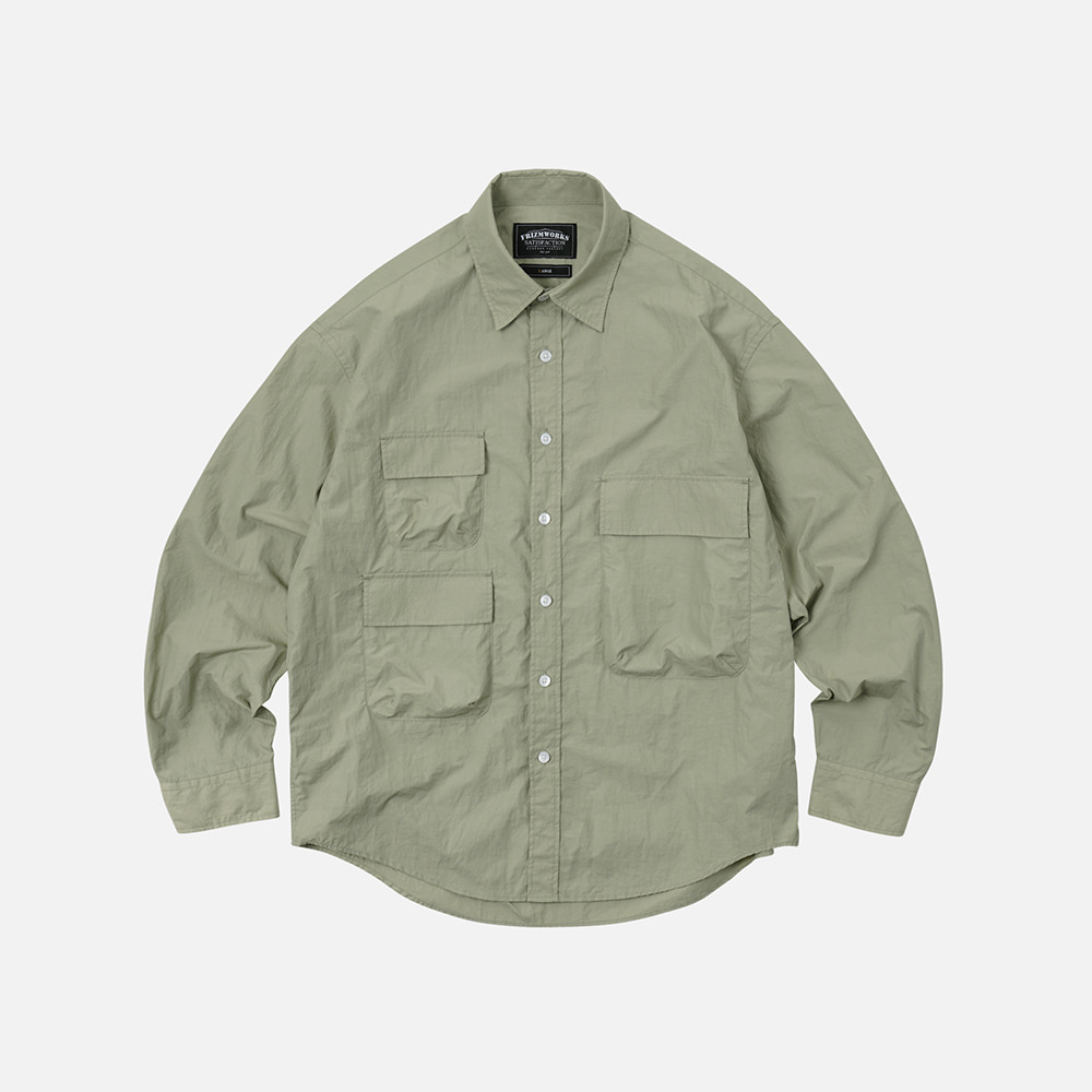 Nylon 3 pocket shirt jacket _ light khaki