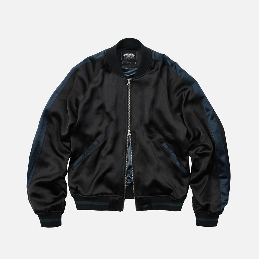 Viscose satin jacket _ black