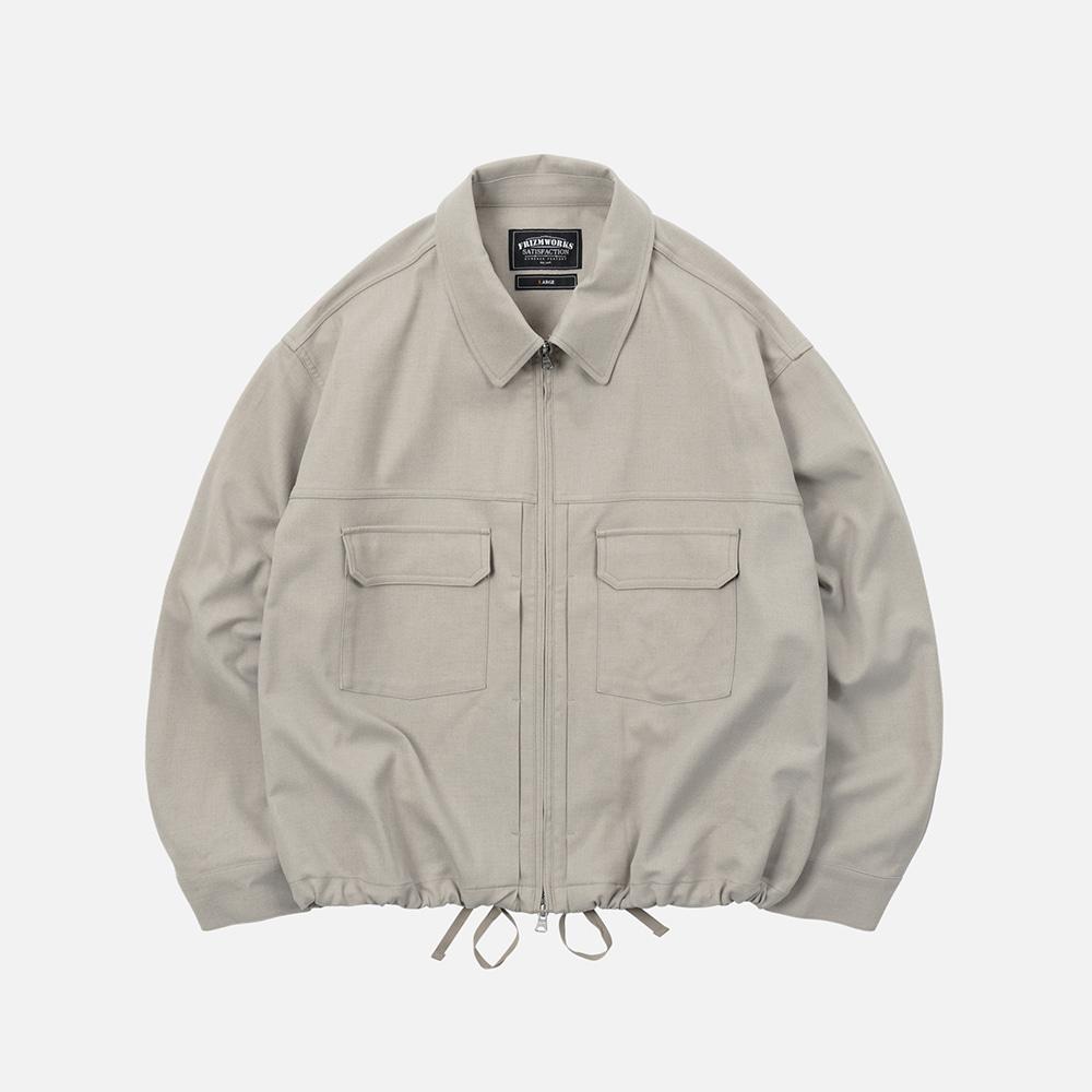 Relaxed trucker jacket _ light beige