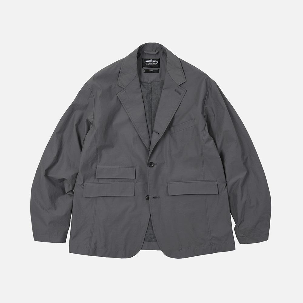 Nylon relax set-up blazer jacket _ gray