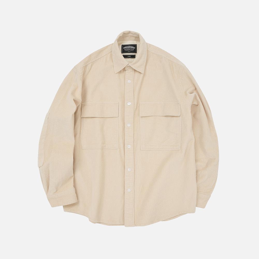 Heavy 8W corduroy shirt jacket _ ivory