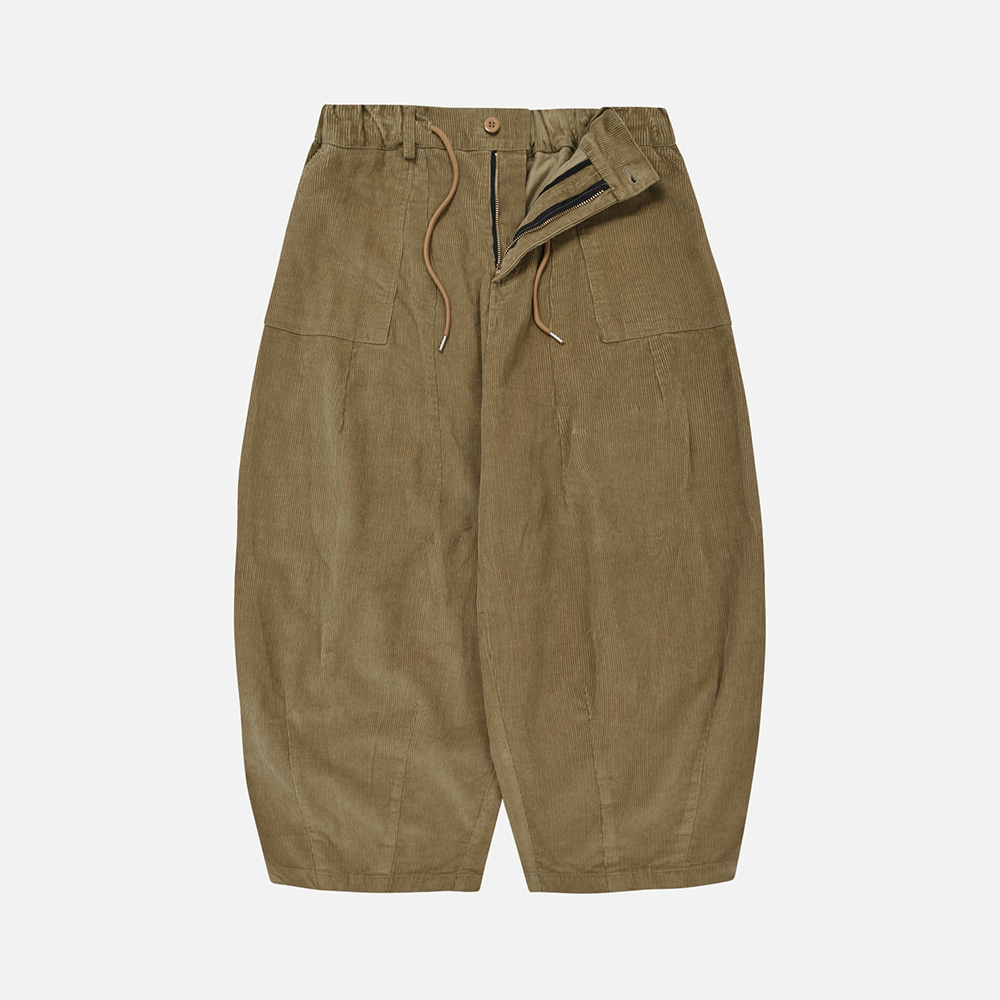 Corduroy balloon pants _ beige