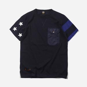 Side flag pocket tee _ navy