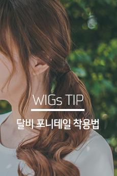 WIGs TIP 달비 포니테일 착용법