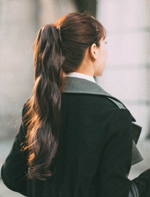 Claw Clips Ponytail Wig Natural Wave 50cm