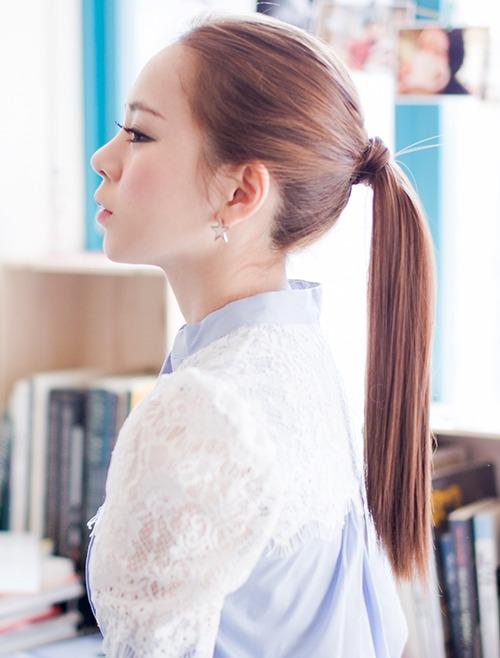 Rolling Ponytail Wig Medium Straight 40cm