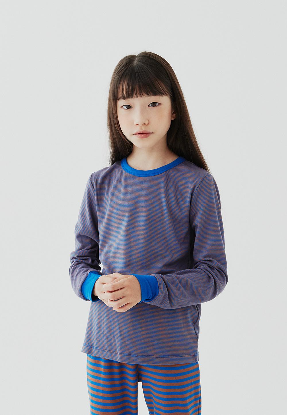 SOFT BASIC TOP STRIPE  BLUE