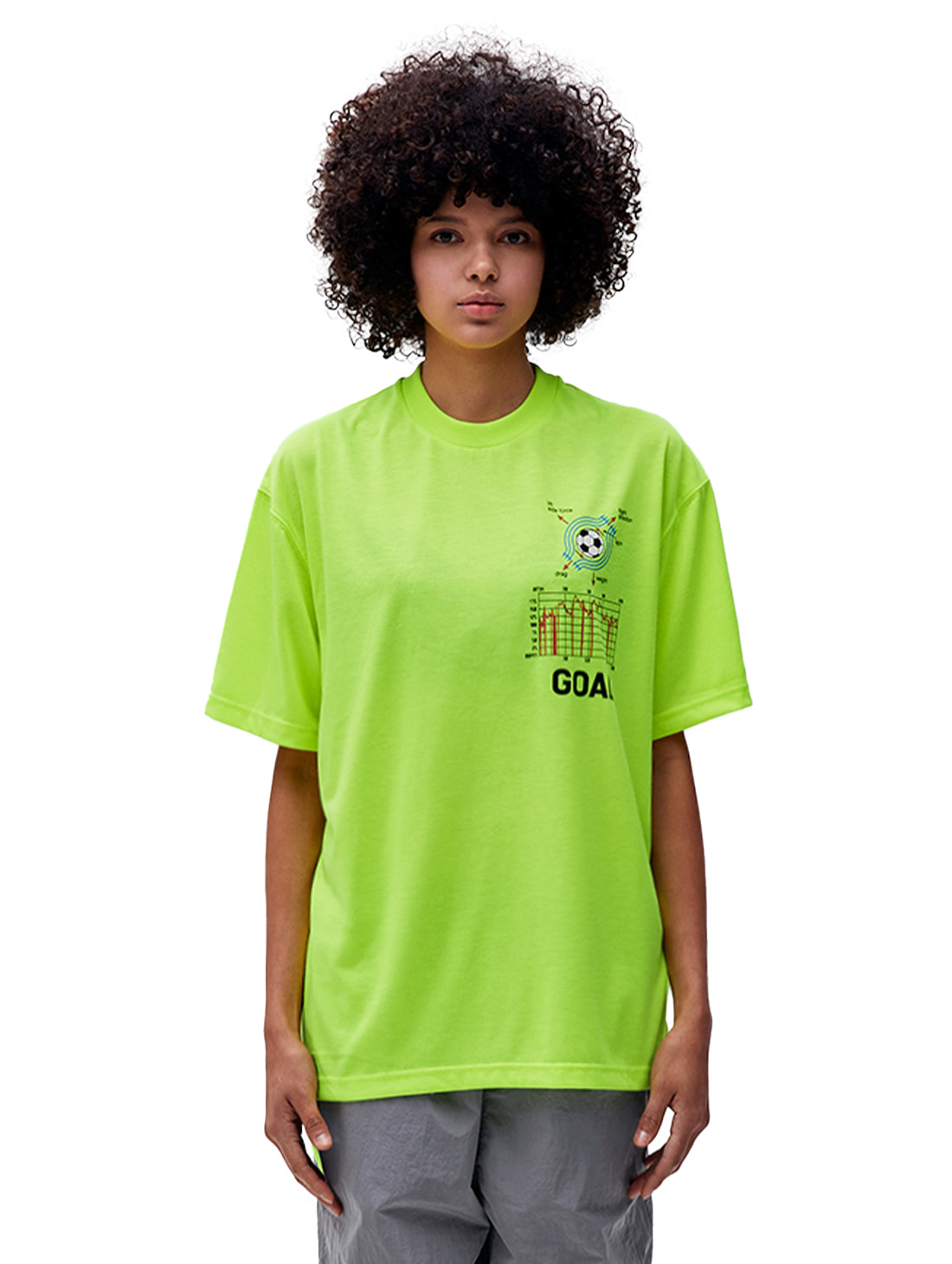 PULSE GRAPHIC SHORT SLEEVE TEE - LIME YELLOW