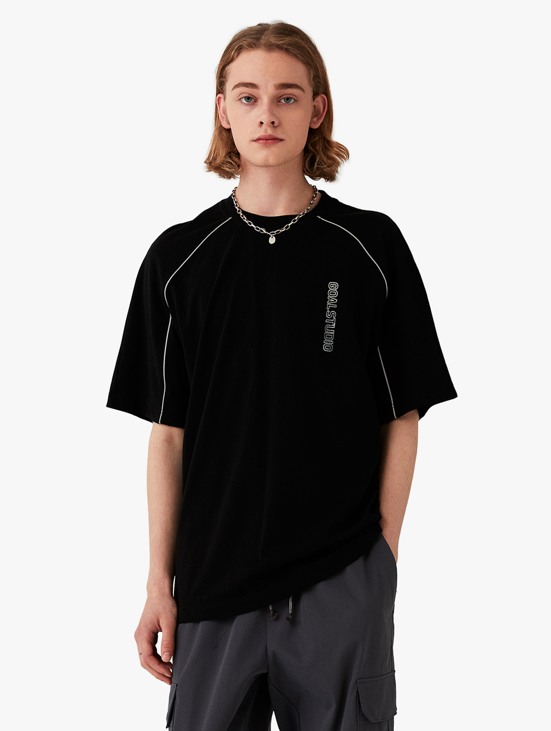 PIPING SHORT SLEEVE TEE (2 Colors)