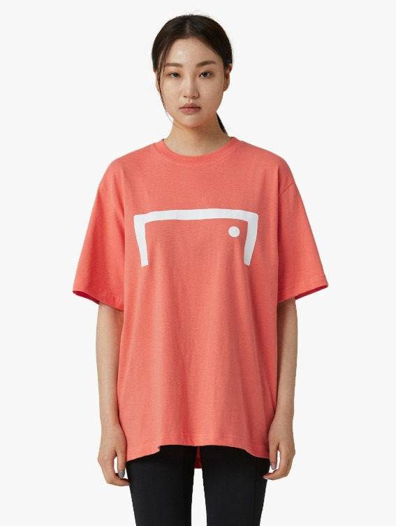 SIGNATURE LOGO TEE - CORAL RED
