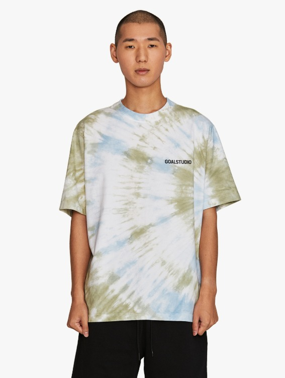 SIGNATURE WATER DYED TEE - BLUE