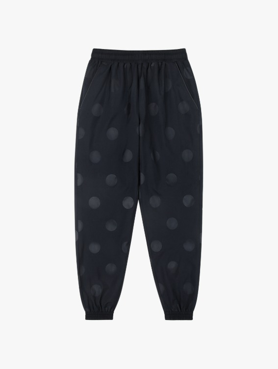 CIRCLE WELDED TRACK PANTS - NAVY