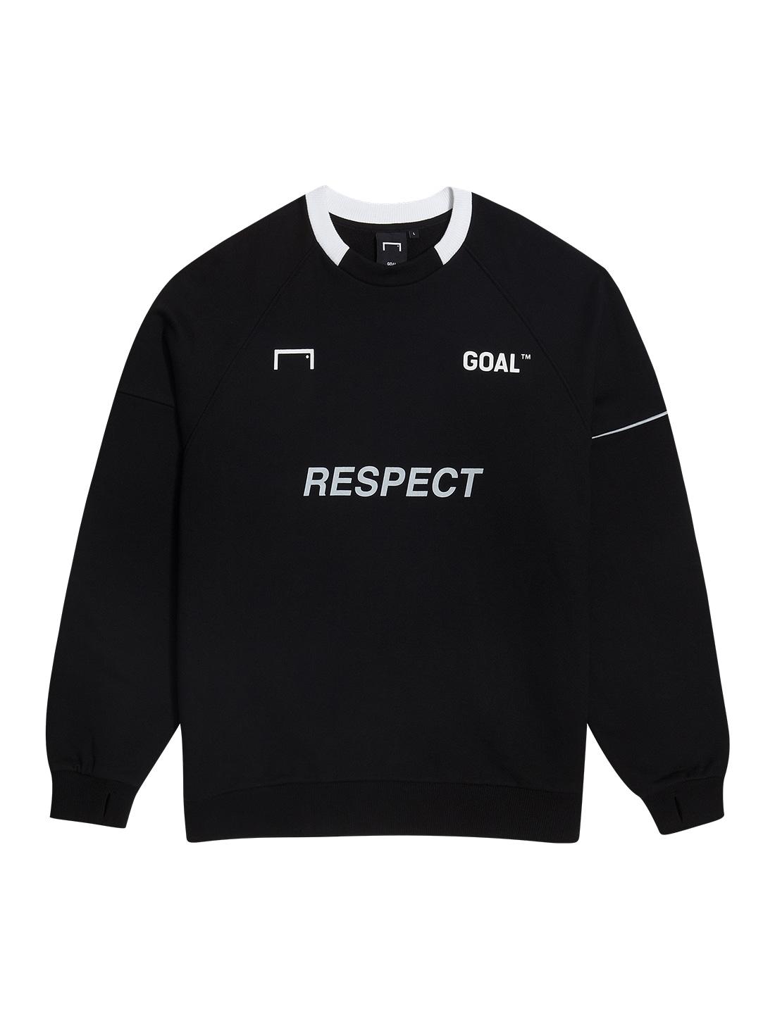 GOALSTUDIO (Sold Out) RESPECT SWEATSHIRT - BLACK