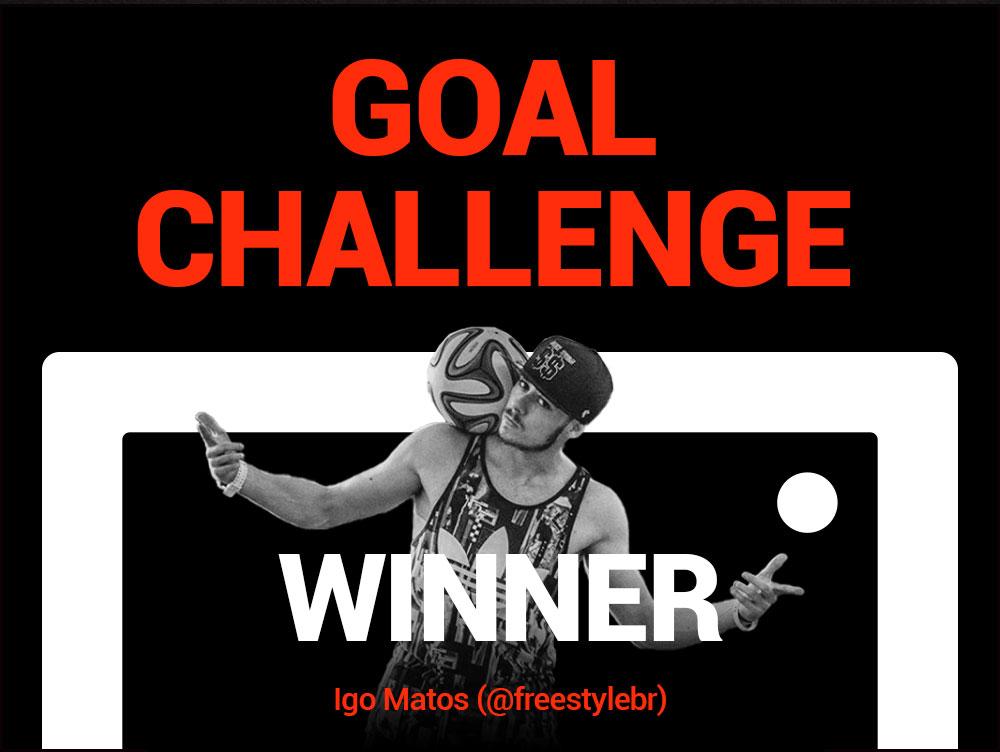 GOALSTUDIO Announcing the GOAL CHALLENGE 19FW Champion!