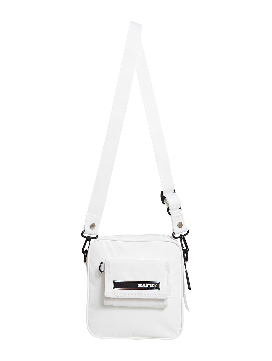 LOGO WAPPEN SMALL BAG - WHITE