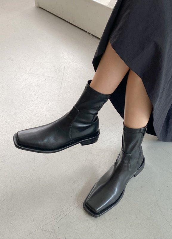 스퀘어미들부츠-shoes
