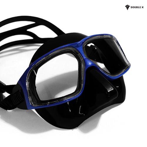더블케이 프리다이빙 마스크 재규어R METAL-Blue+BK