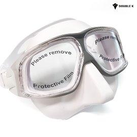 더블케이 프리다이빙 마스크 재규어R Crystal White+Gray