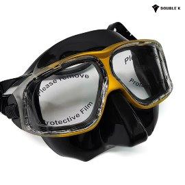 Double K Freediving Mask Jaguar R Crystal Black + Gold