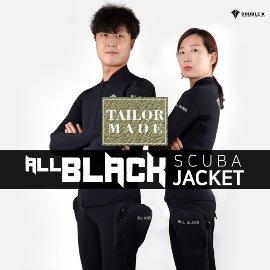 더블케이 스쿠버다이빙 자켓(맞춤) All Black Yamamoto No.45 (2mm)