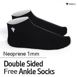 Double K Freediving Socks Neoprene 1mm Double Sided Free Ankle Socks