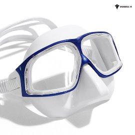 Double K Freediving Mask Jaguar R METAL-Blue + WH