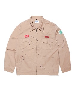 SHP X CRITIC PAINTING WORKER JACKET BROWN
