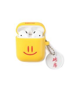 HAPPY FOOD X CRITIC SMILE AIRPODS CASE(YELLOW)_HFTZUAP02UY0