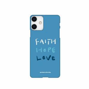 폰케이스 31. Faith,Hope,Love_파랑색