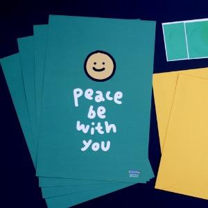 편지지 03. peace be with you