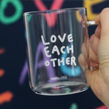 내열 유리컵(L) Love each other