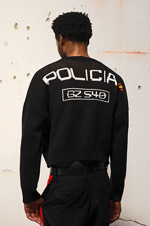 POLICIA CROPPED KNIT