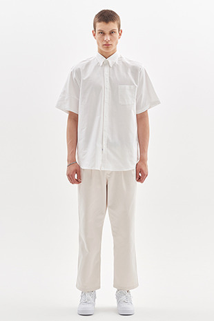 TWO TUCK CHINO PANTS_IVORY
