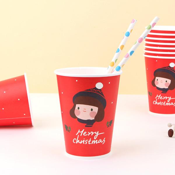 [온라인전용상품]헬로제인 크리스마스 종이컵 (1set 10개)