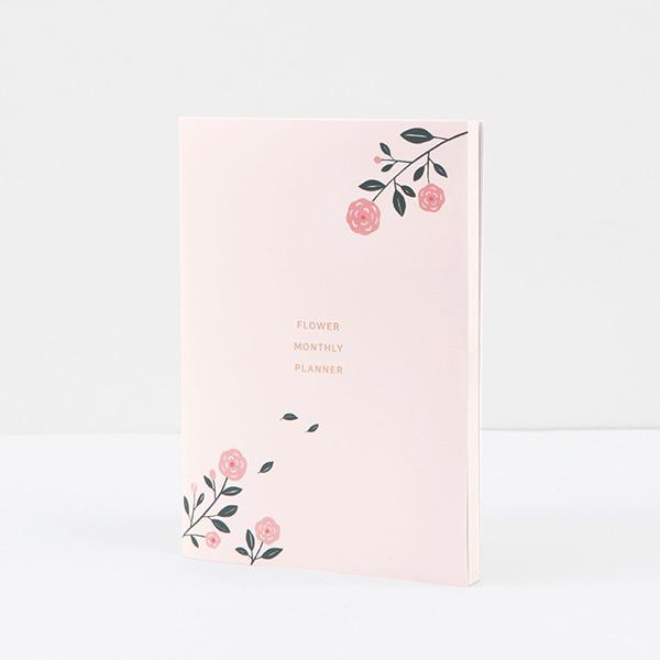 GRACEBELL Flower Monthly planner 01.Light pink