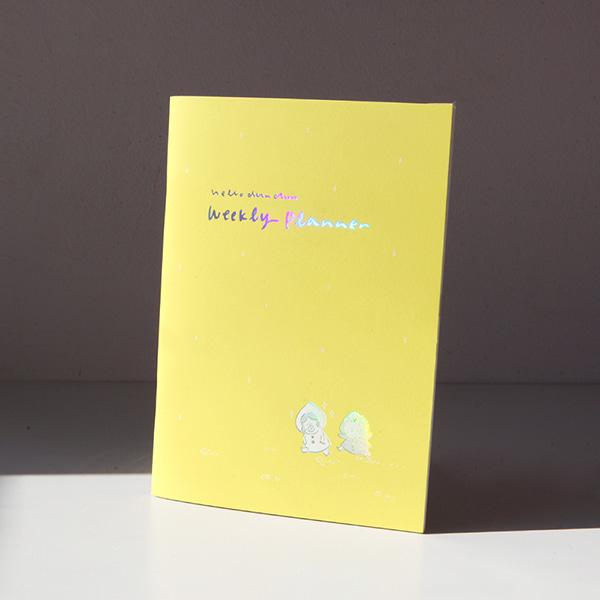 GRACEBELL Hello Dundun weekly planner(6 Monty) 02.Yellow